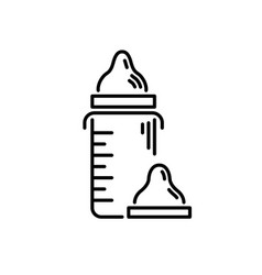 Thin line baby icon artificial feeding drinking vector