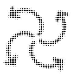 Turbine rotation halftone icon vector