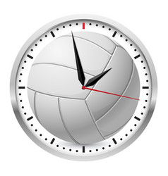 Volleyball clock on white background for design vector