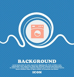 Washing machine icon sign Blue and white abstract vector