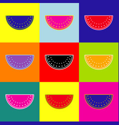 watermelon sign pop-art style colorful vector image
