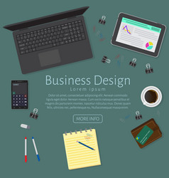 Website banner of a business design concept top vector