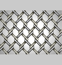 wire fence background close up metallic vector image