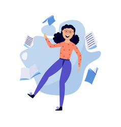 Woman and information concept vector
