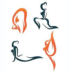 woman sport vector image