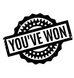 You have Won rubber stamp vector