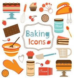 Baking icons set vector image vector image