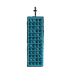 building facade company icon vector image