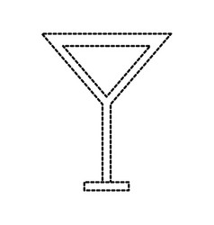 cocktail glass cup empty beverage concept vector image