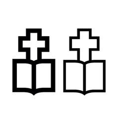 Cross-Bible vector image vector image