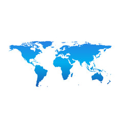 detail world map isolated on white background vector image