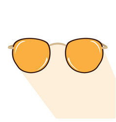 isolated sunglasses icon vector image vector image
