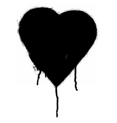 Black Graffiti heart vector image