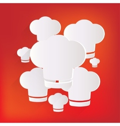 Chef cap icon Cooking hat vector image