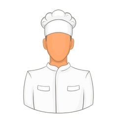 Cook icon in cartoon style vector image vector image