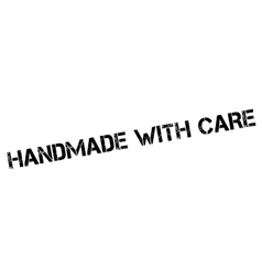 Handmade with care rubber stamp vector