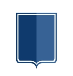 Heraldic shield shape icon vector image