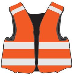 Orange safety vest vector image vector image