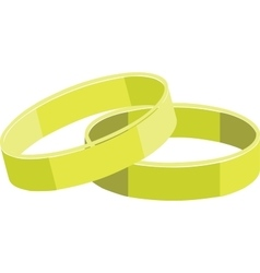 rings color set 01 vector image