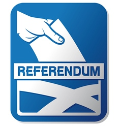 Scottish independence referendum vector