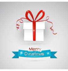 Abstract Merry Christmas theme - present on grey vector image vector image