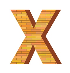 brick letter X vector image