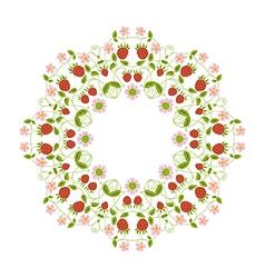 circular ornament berries vector image vector image