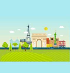 Familiarity with traditions culture architecture vector