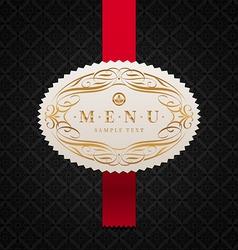 framed ornate menu label vector image
