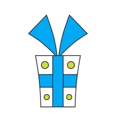 Gift box Packing for surprise Flat color icon vector image vector image