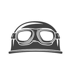 Helmet with eyewear Black icon logo element flat vector image vector image