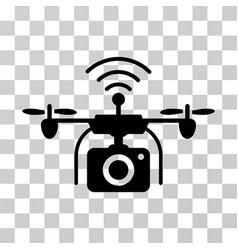 Radio camera drone icon vector