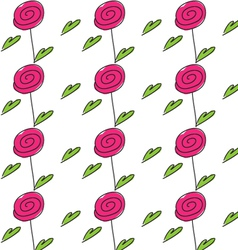 red color rose flower vector image