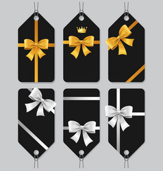 sale or present bow labels set vector image