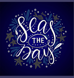 seas the day card vector image vector image