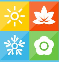 season icons 1 vector image
