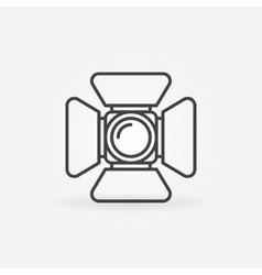 Spotlight icon or logo vector image