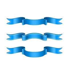 Blue Ribbons Set vector image vector image