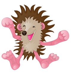 cartoon funny hedgehog vector image