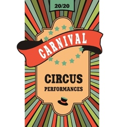 circus poster vector image vector image
