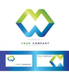 Corporate business media logo vector image