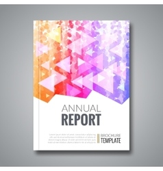 Cover report colorful triangle geometric pattern vector image