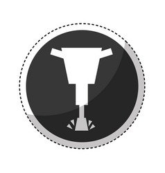 hydraulic hammer isolated icon vector image vector image