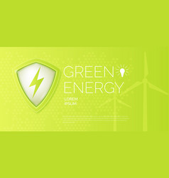 modern poster on the topic of natural energy vector image