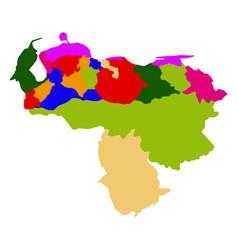 political map of venezuela vector image