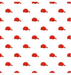 red baseball cap pattern seamless vector image
