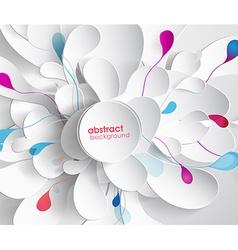 Abstract colored background with leafs and place vector