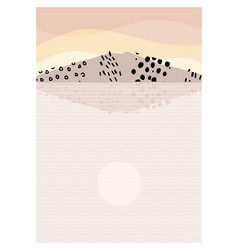 abstract mountain landscape lake a mount vector image