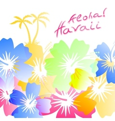 Aloha Hawaii Background vector image