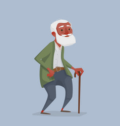An old african man with a beard and a cane vector